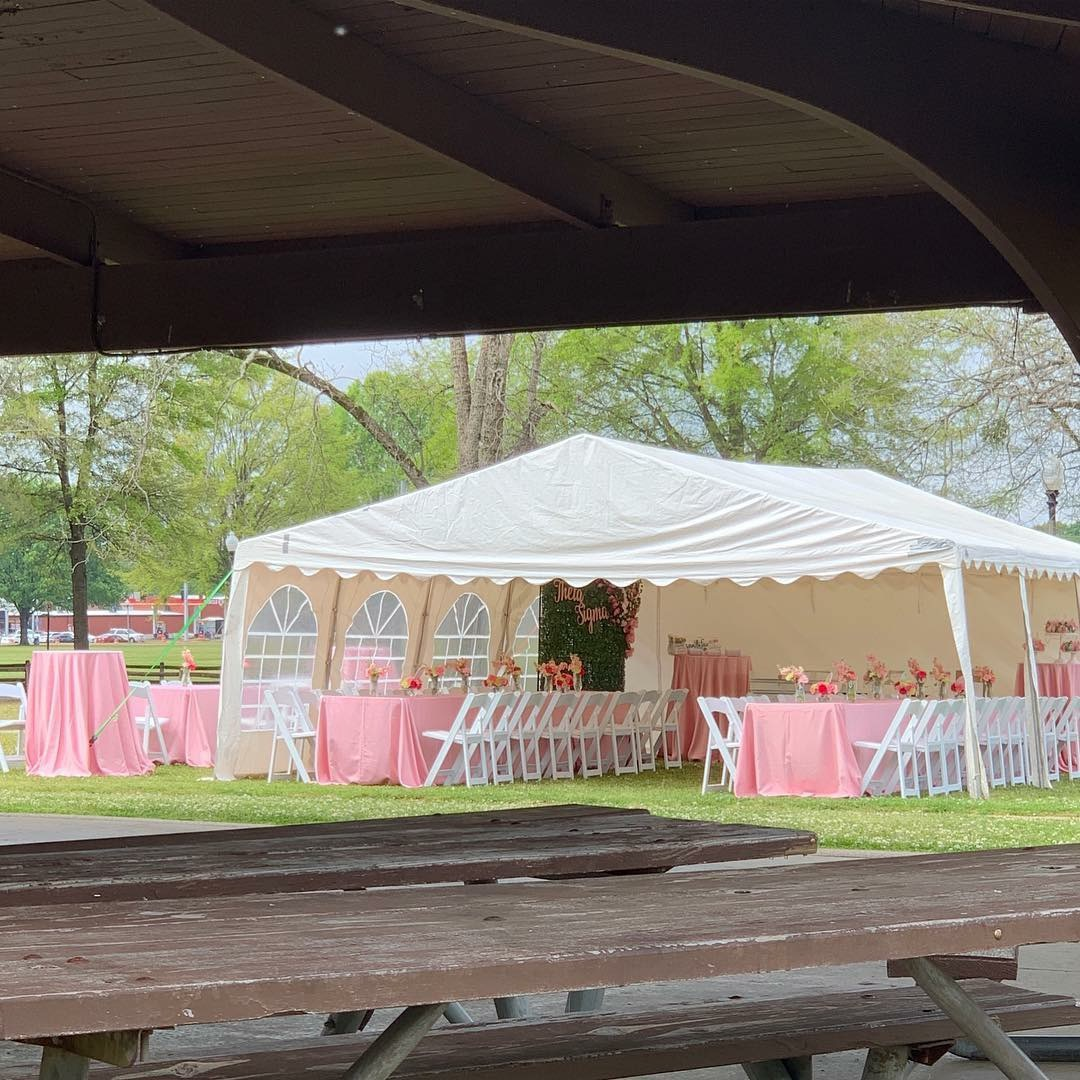 IMG_3105 Alpha Kappa Alpha Soiree - Pink & Green Outdoor Party Inspiration in Alabama