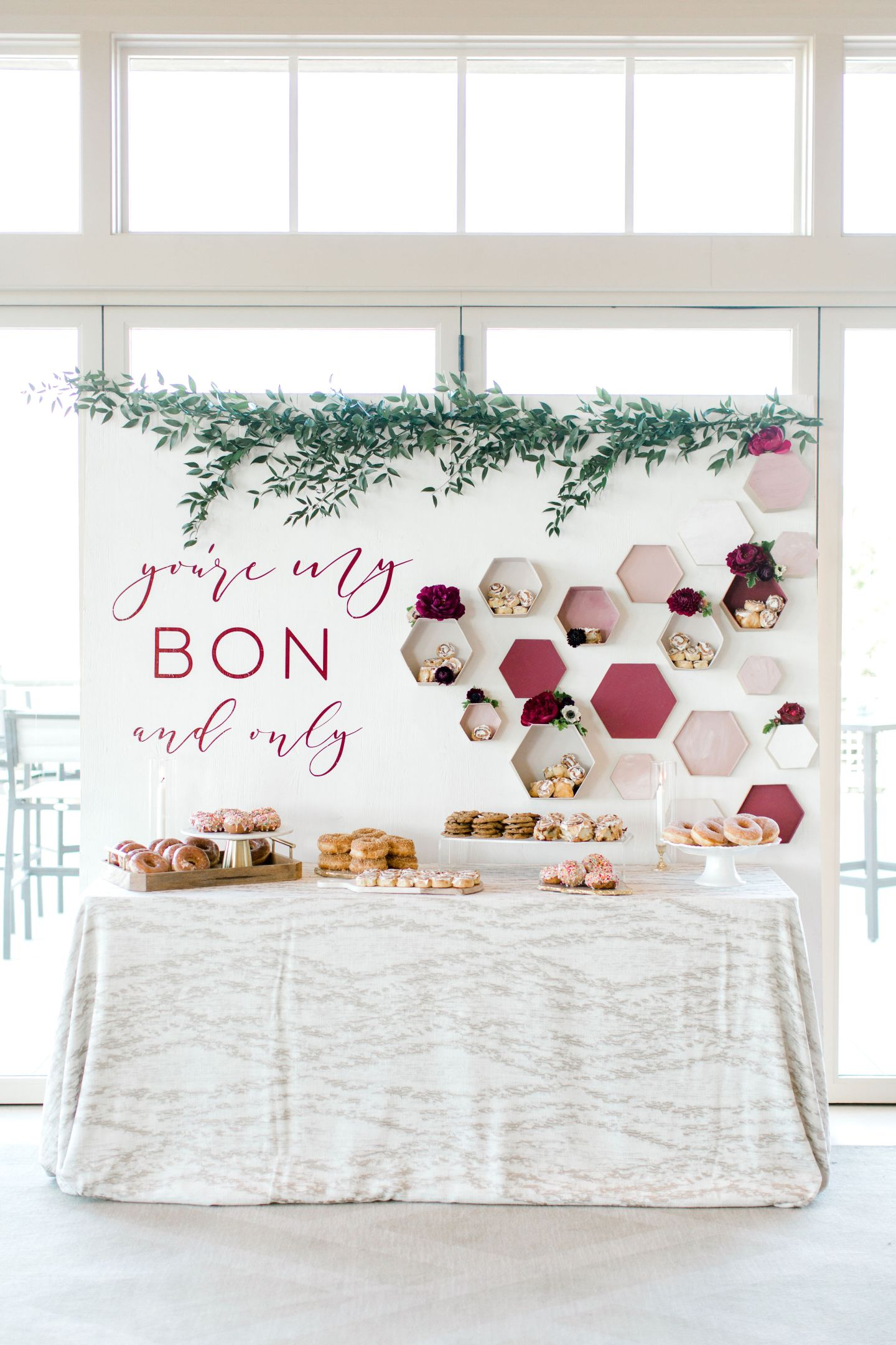 PineandSea_HuberWedding_ReceptionDetails-100-1440x2160 Spring Wedding Inspiration: How to Host a Dessert Bar with Cinnabon