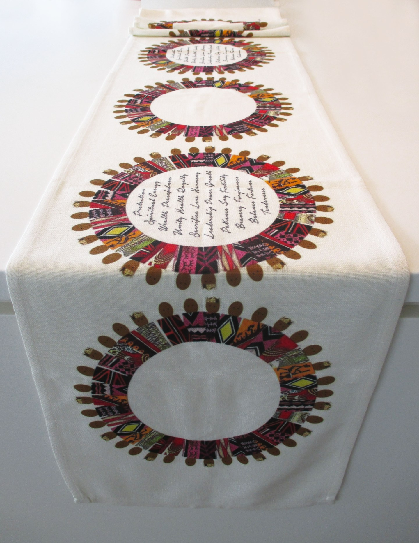 Table-Runner-Linda-Nesbit-Floria-1440x1864 Black Owned Giftware Line is  Inspired By Culture, Spirituality, and People