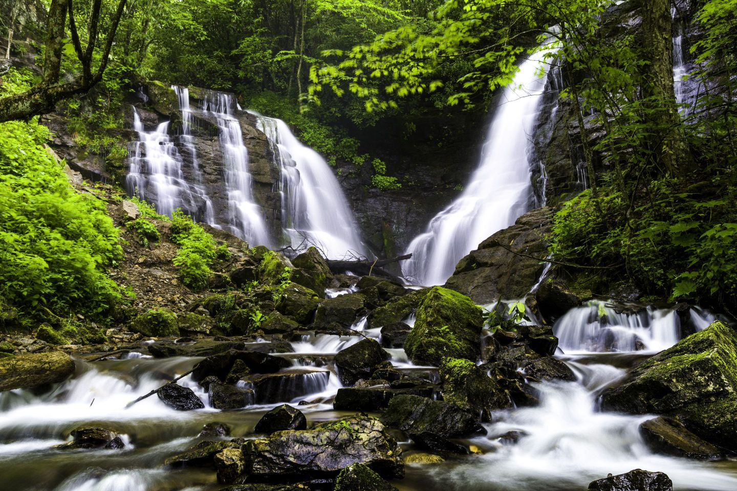 SocoFalls_Springcredit-Visit-Cherokee-NC Five Family-Friendly NC Mountain Towns to Visit This Summer