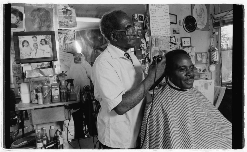 Louis-McDowell-cuts-Roger-Daileys-hair Black Heritage Books: The History of Black Salons and Barbershops