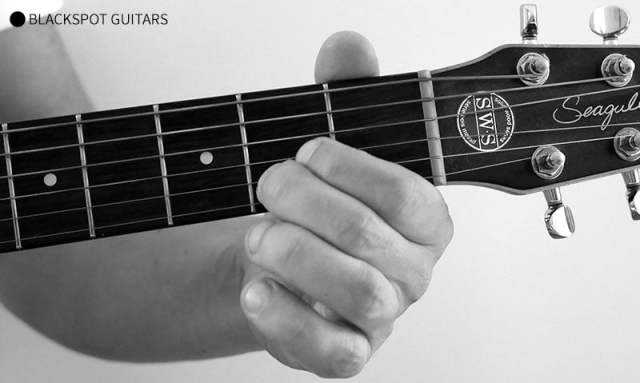 A Major Guitar Chord Finger Position