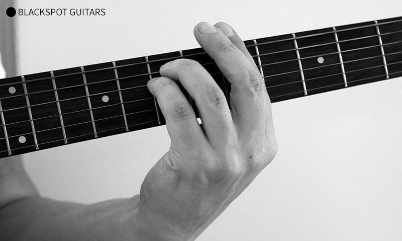 A Minor Barre Guitar Chord Finger Position