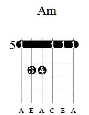 Am Guitar Chord 3
