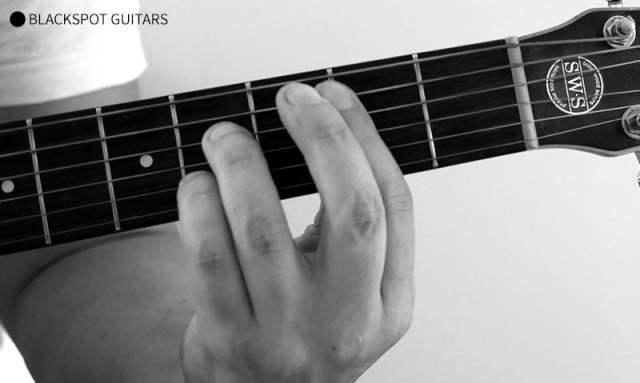 B 7 Barre Guitar Chord Finger Position