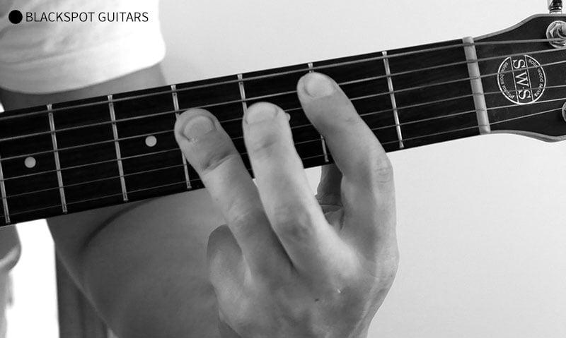 B Major 2 Guitar Chord Finger Position