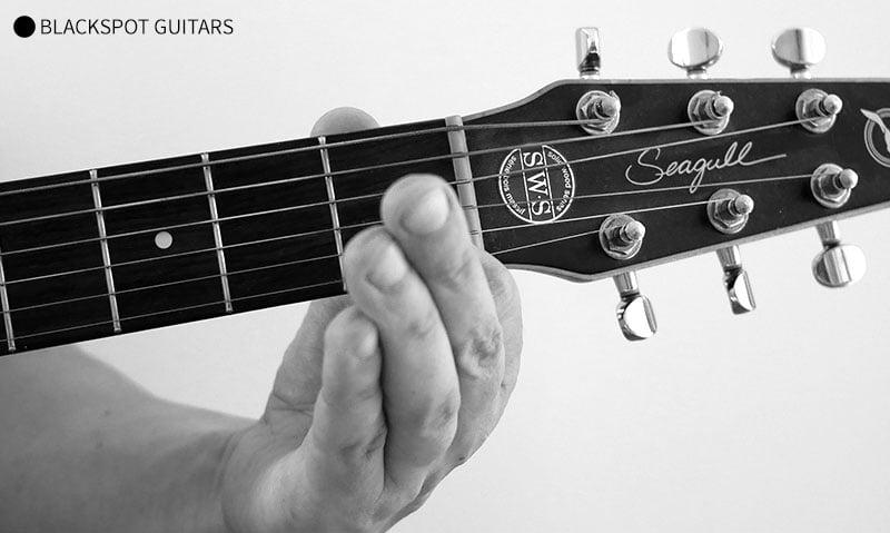 C Major 2 Guitar Chord Finger Position