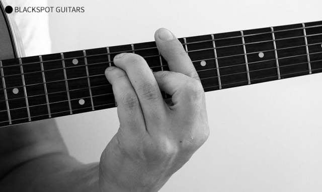 C Major Barre 2 Guitar Chord Finger Position