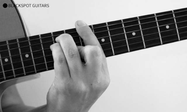 D Major Barre Guitar Chord Finger Position
