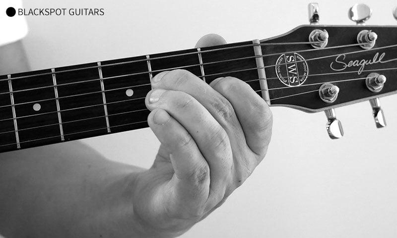 E Major 2 Guitar Chord Finger Position