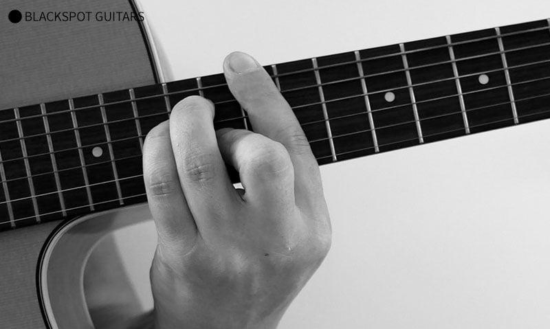 E Major Barre 2 Guitar Chord Finger Position