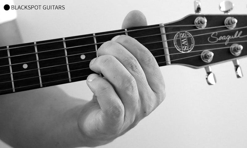 E Minor 2 Guitar Chord Finger Position
