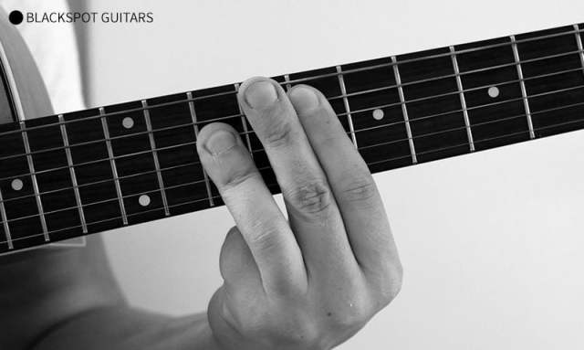 F Major Barre 2 Guitar Chord Finger Position