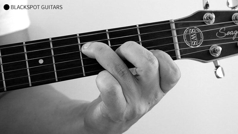 Fmaj7 Guitar Chord Finger Position
