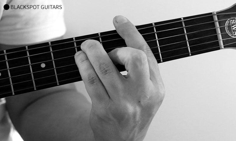 G Major Barre 2 Guitar Chord Finger Position