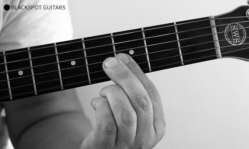G Minor 2 Guitar Chord Finger Position