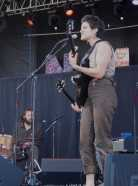 Big Thief play Nelsonville Music Festival on Thursday, June 1st 2017. Photo by Brooke Forrest