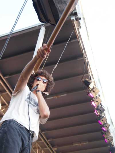Ron Gallo performs at Nelsonville Music Festival on Friday, June 2, 2017. Photo by: Brooke Forrest