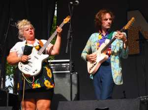 Shannon and the Clams perform at Nelsonville Music Festival on Sunday, June 4 2017. Photo by: Brooke Forrest