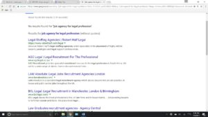 example of first page results