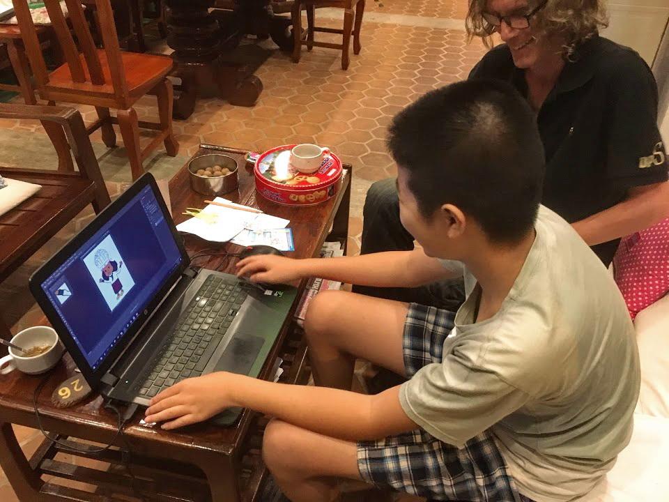 computer users having fun