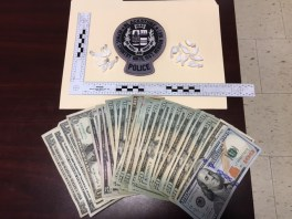 Cash and drugs seized by Blackstone police. (Courtesy Photo)