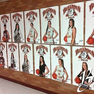 Madison Bulldogs Basketball Senior Banners