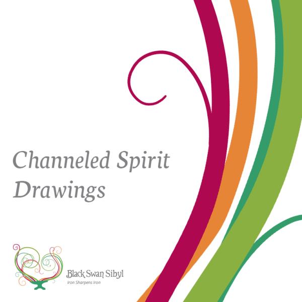 Black Swan Sibyl ~ Channeled Spirit Drawings