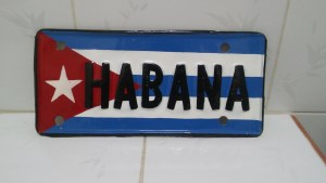 License plate from Cuba