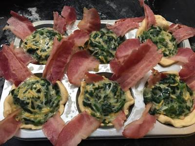 Bacon & Florentine Biscuit Cup