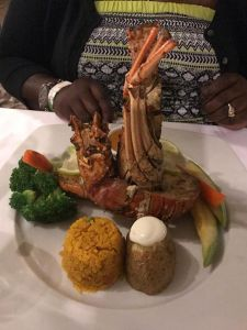 Lobster Dinner offered at the resort for $30