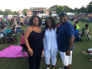 Amy, Dee & Bill at the Atlanta Jazz Festival