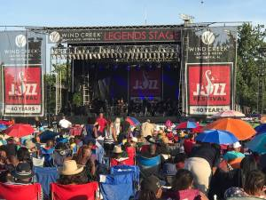 Early afternoon at the Atlanta Jazz Festival