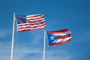 US and Puerto Rican Flags
