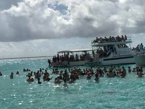 Arriving at Stingray City