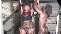 BBW Transsexual Pornstar fuck  slave in dungeon