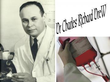Dr Charles Richard Drew Blood Bank Pioneer Black Then