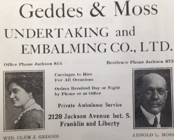 Gertrude Geddes Willis Funeral Home New Orleans