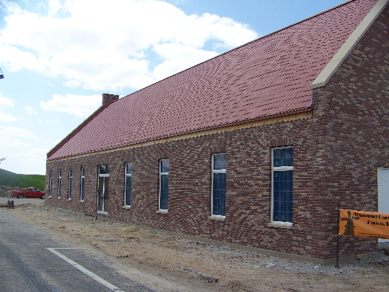 Fulton's newest attraction, the Windmill Cultural Center is nearing completion.
