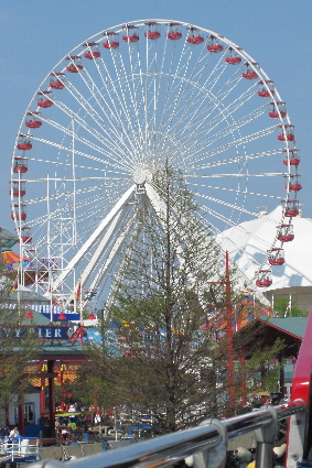 Navy Pier Ferris Wheel-Chicago is the birthplace of the Ferris Wheel