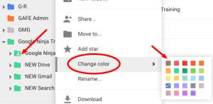 Visual of Google Drive Colors