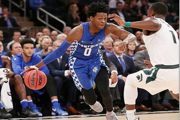Kentucky's De'Aaron Fox: NBA PG Size & Speed : BlacktopTV