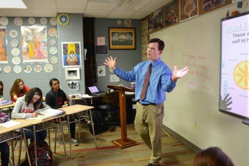Seth Brady, a comparative religions and world cultures teacher at Naperville Central High School, is among educators pushing for creation of a Global Scholar Certificate to recognize high school students for gaining knowledge of international cultures and contexts. The certificate would be created by a proposed amendment to the state school code. Daily Herald file photo, 2014