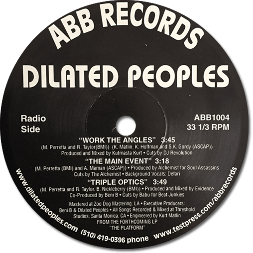 Black to the Music - Dilated Peoples - 1998 - Work The Angels