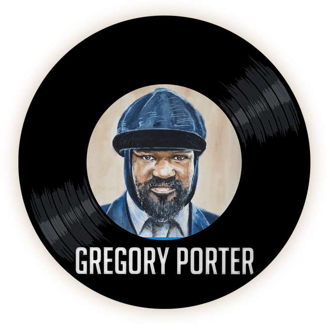 Black to the Music - Gregory Porter - logo header