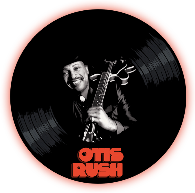 Black to the Music - Otis Rush logo header