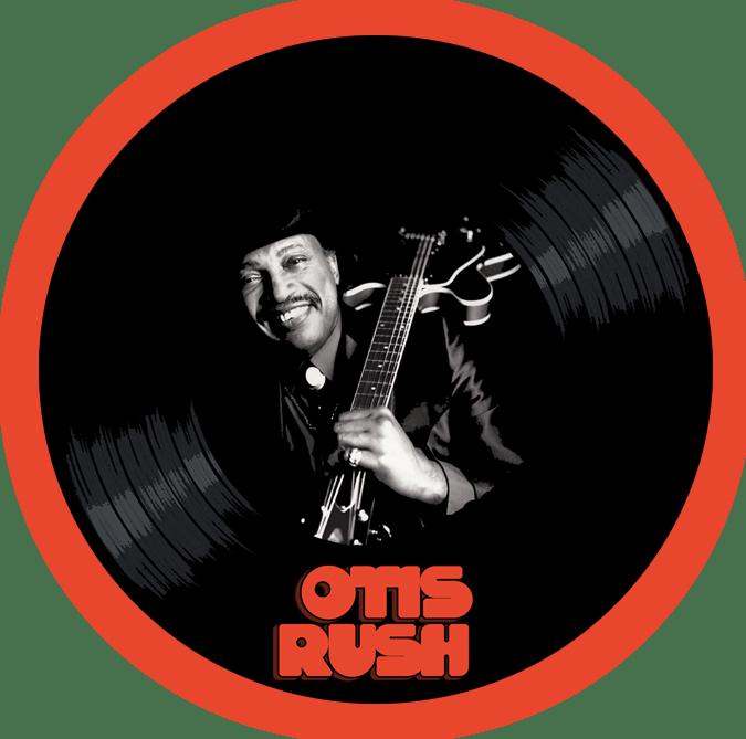 Black to the Music - Otis Rush logo header