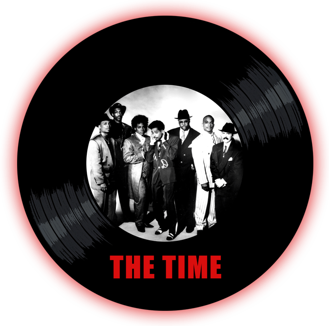 Black to the Music - The Time logo v2