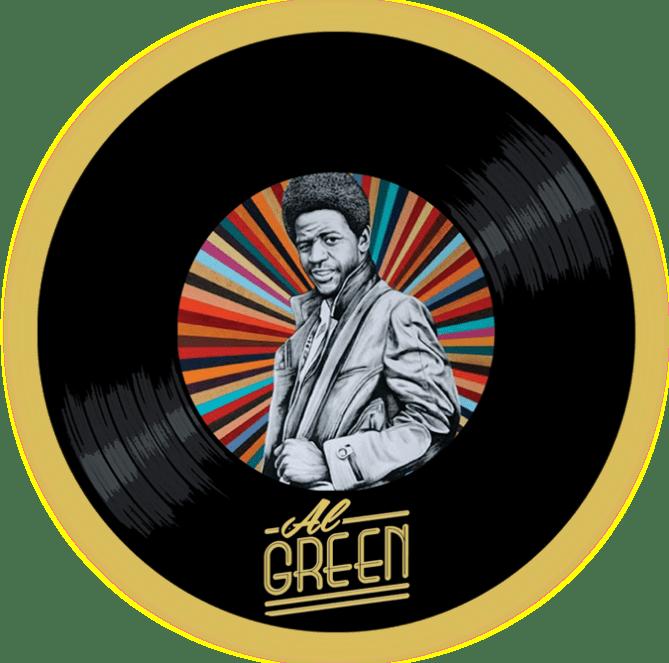 Black to the Music- Al Green - logo header