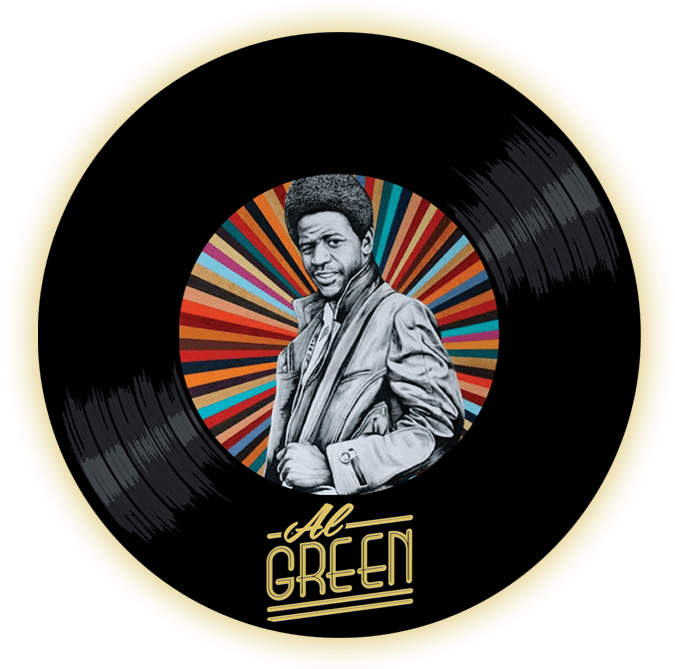 Black to the Music- Al Green - logo header